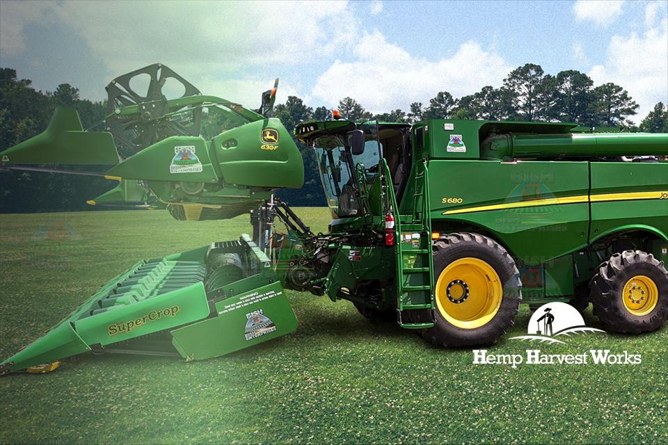 Bish Double Cut Combine for Hemp, Hemp Combine, SuperCrop Header, Hemp Harvester