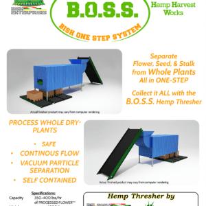 BOSS Hemp Seperator | CBD Hemp Thresher | Large scale cannabis processor
