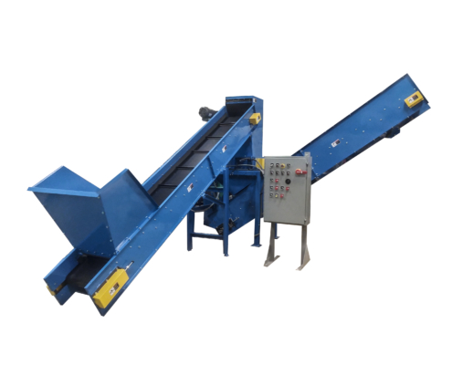Dual Shaft Hemp Shredder with Conveyor, Dual Shaft Cannabis Shredder with Conveyor