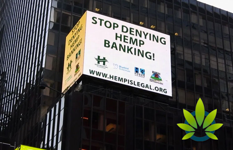 """Hemp Industries Association (HIA) Takes its """"Hemp is Legal"""" Ad to Times Square Addressing Banking Issues – September 2019"""