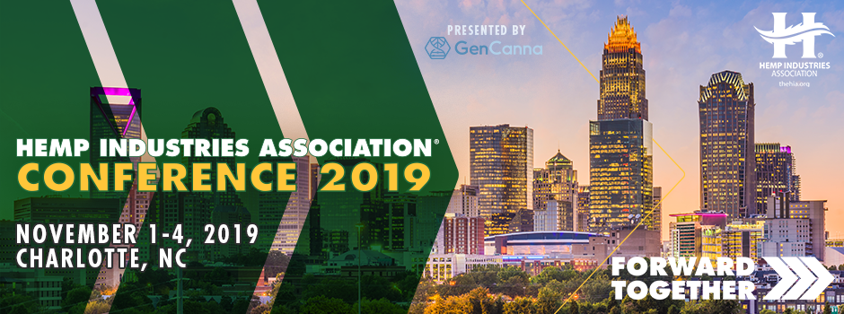Hemp Industries Association® Conference Announces Sponsors And Keynote Speakers – October 2019