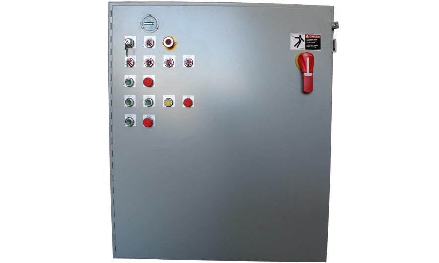 dual-shaft-shredder-electrical-panel