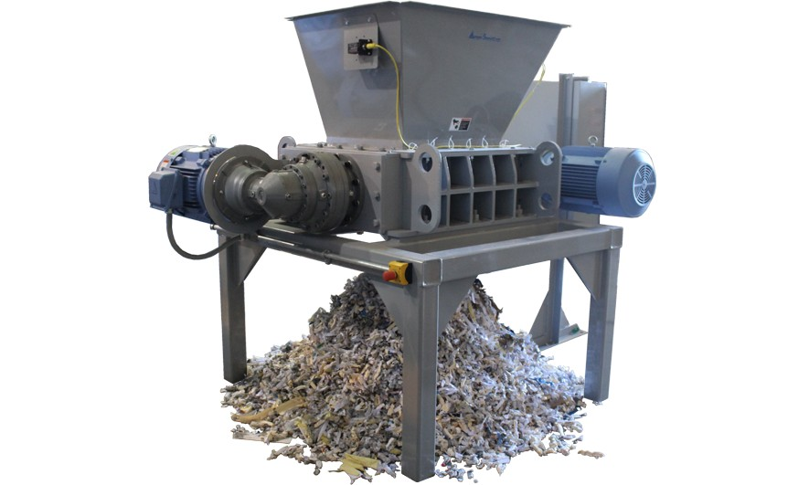 dual-shaft-shredder-output