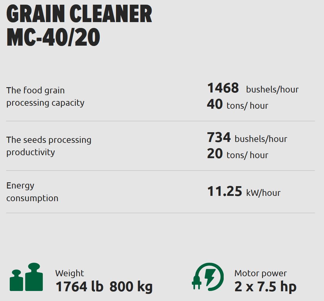 Almaz Grain Cleaner | Hemp Grain Cleaner | Filterless Grain Cleaner |