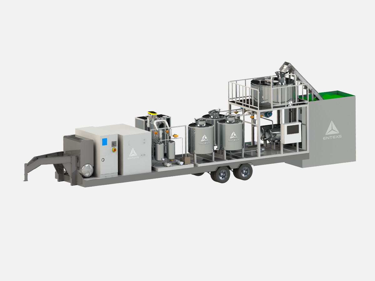 Entexs Midi Mobile Ethanol Hemp Extraction System | Best CBD Hemp Extraction | CBG Alcohol Extraction Machine | Mobile Hemp Extraction Lab