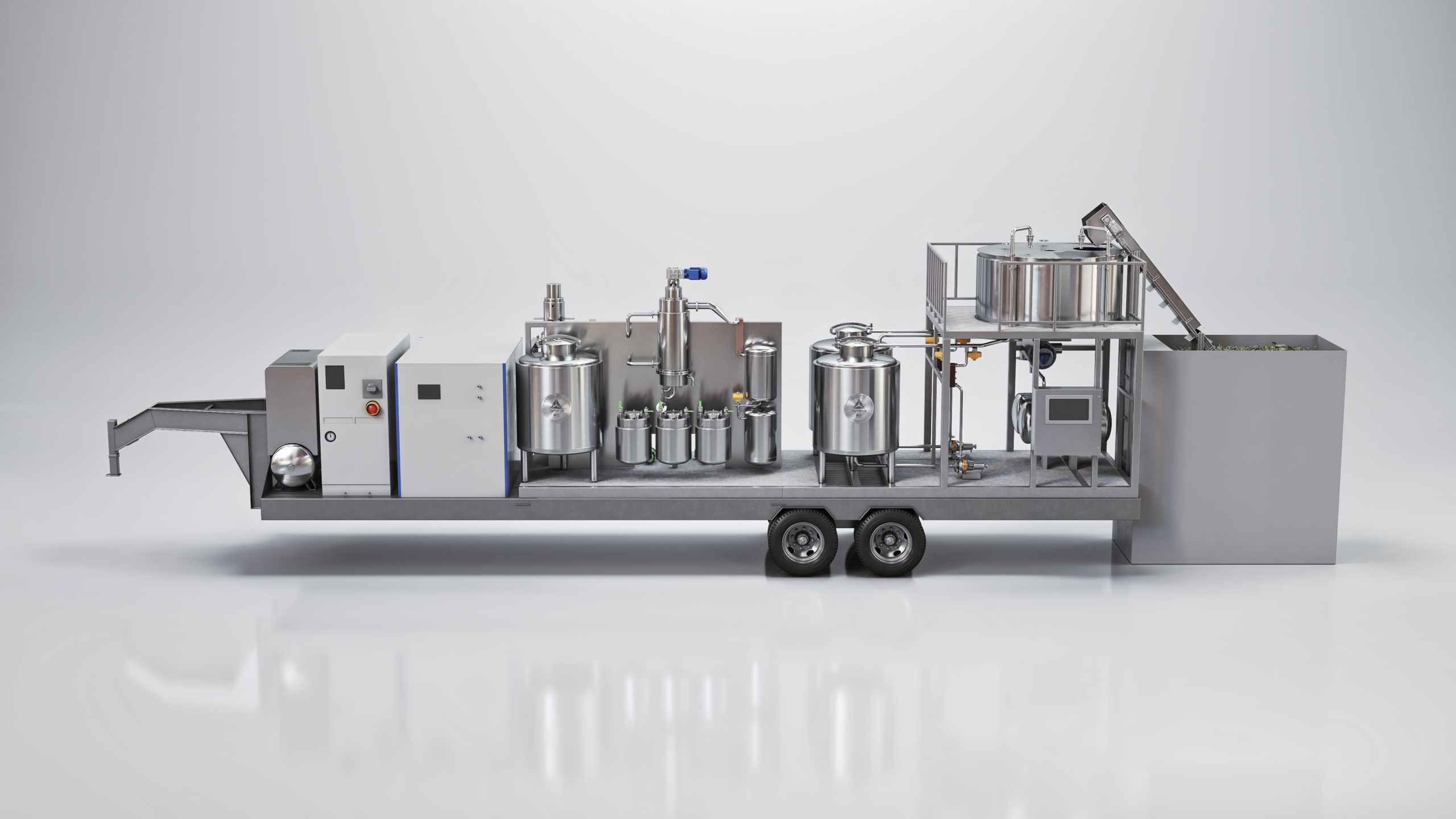 Entexs Midi Mobile Ethanol Hemp Extraction System | Best CBD Hemp Extraction | CBG Alcohol Extraction Machine | Mobile Hemp Extraction Lab