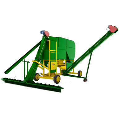 Metra MGC mobile grain cleaner | mobile hemp grain cleaner | Trailer mounted hemp seed cleaner