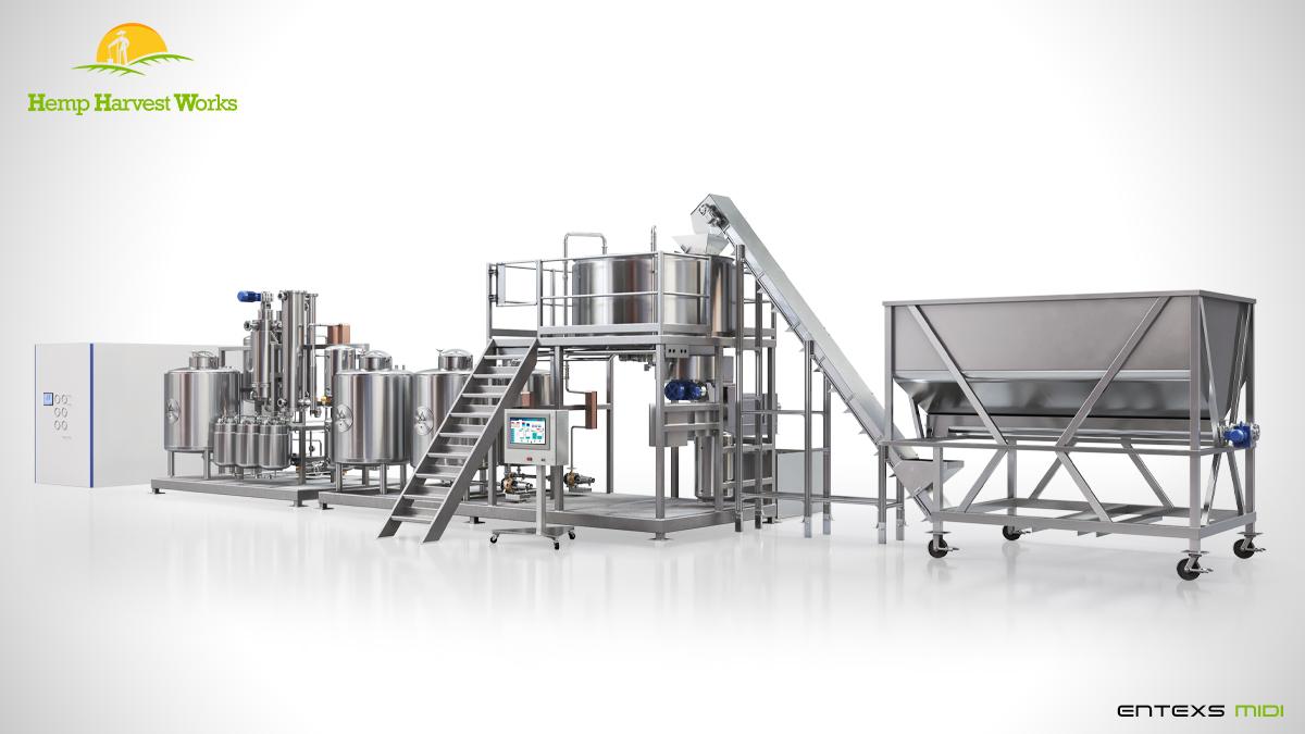 Entexs Midi Ethanol Hemp Extraction System | Best CBD Hemp Extraction | CBG Alcohol Extraction Machine